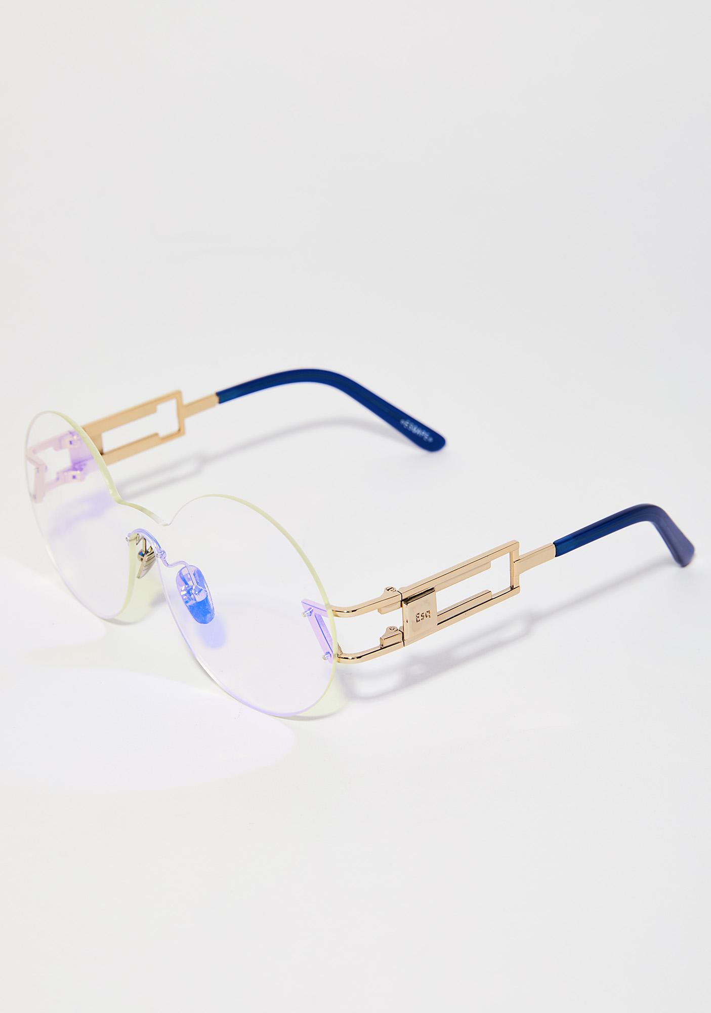 ESQAPE Seemore Blue Hologram Glasses
