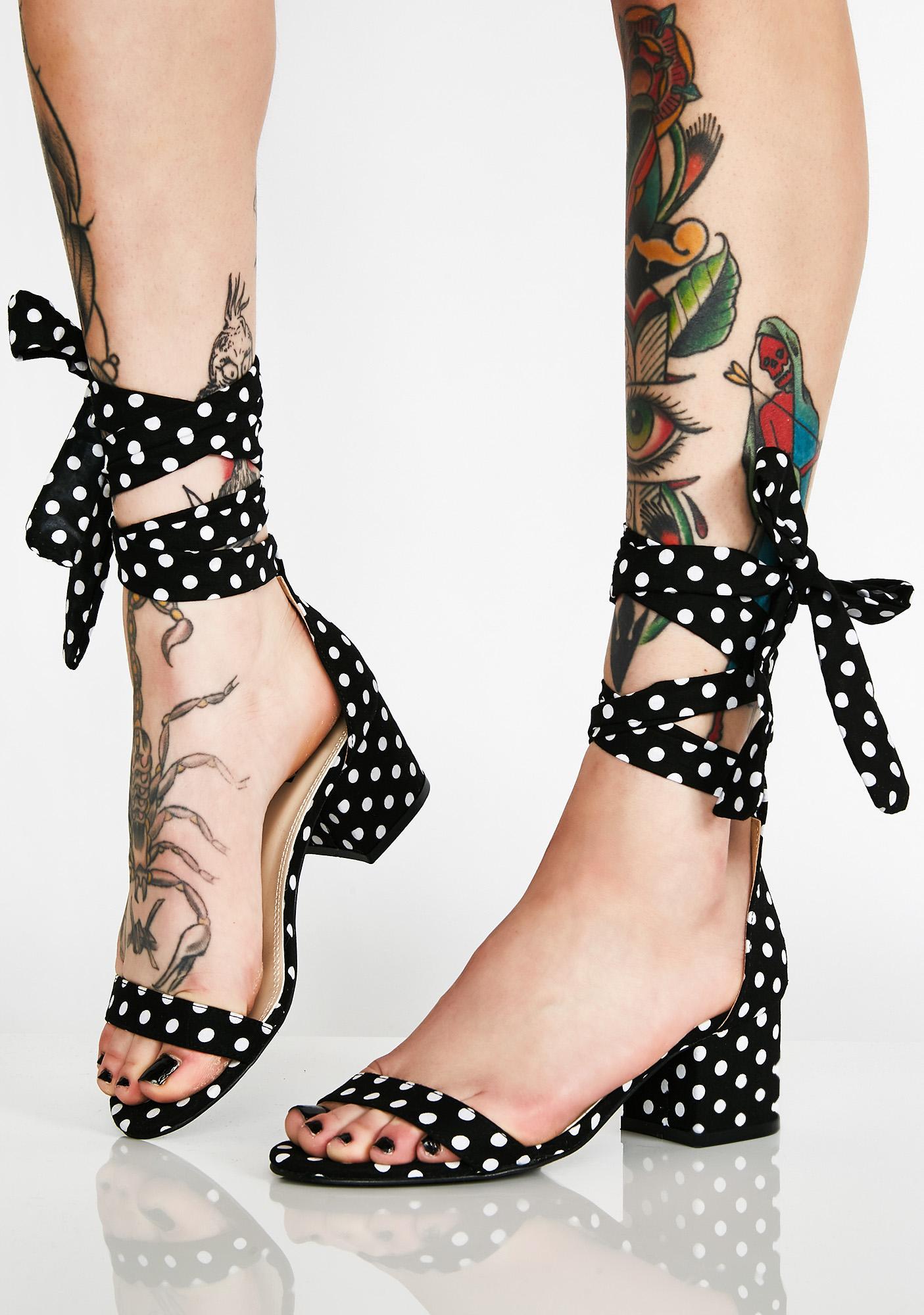 Spring In Ya Step Polka Dot Sandals