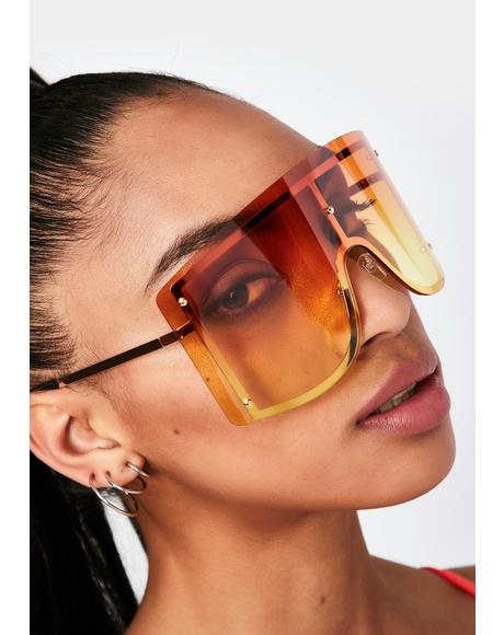 Amber High Ratings Shield Sunglasses