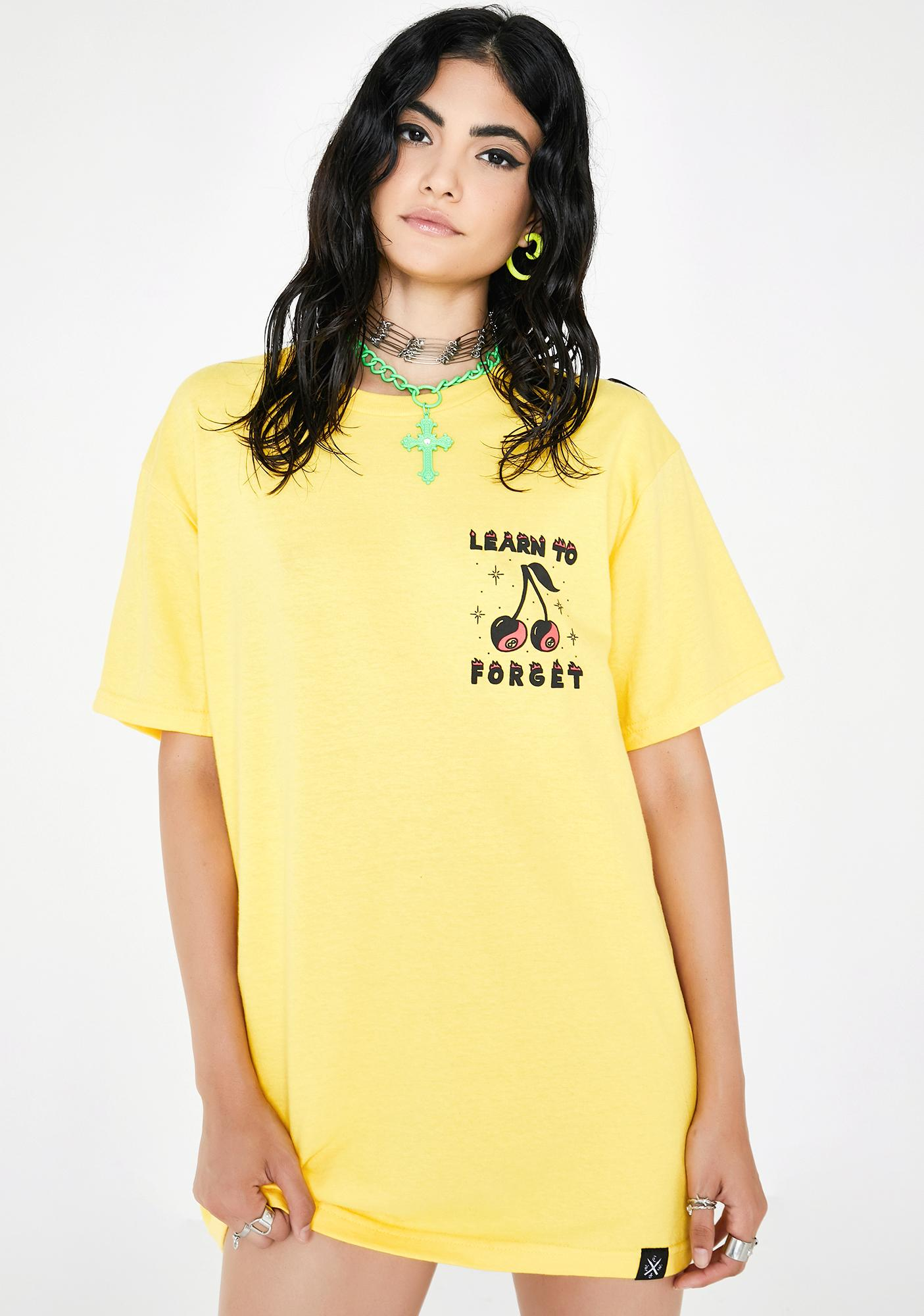 Learn To Forget Cherry 8-Ball Graphic Tee