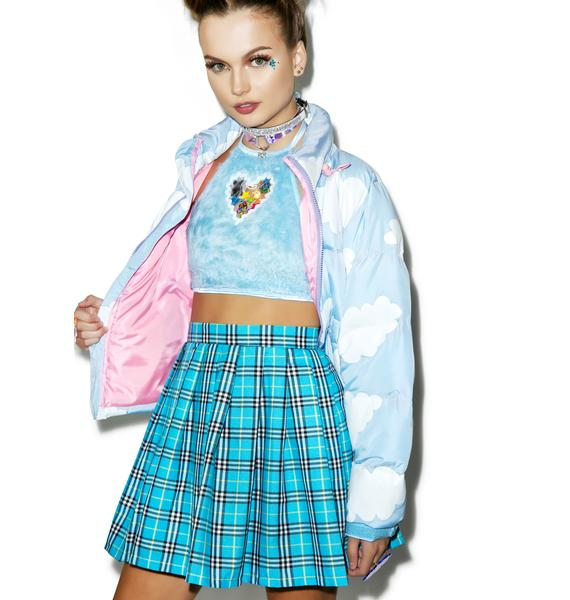 Reality Bites Blues Plaid Skirt