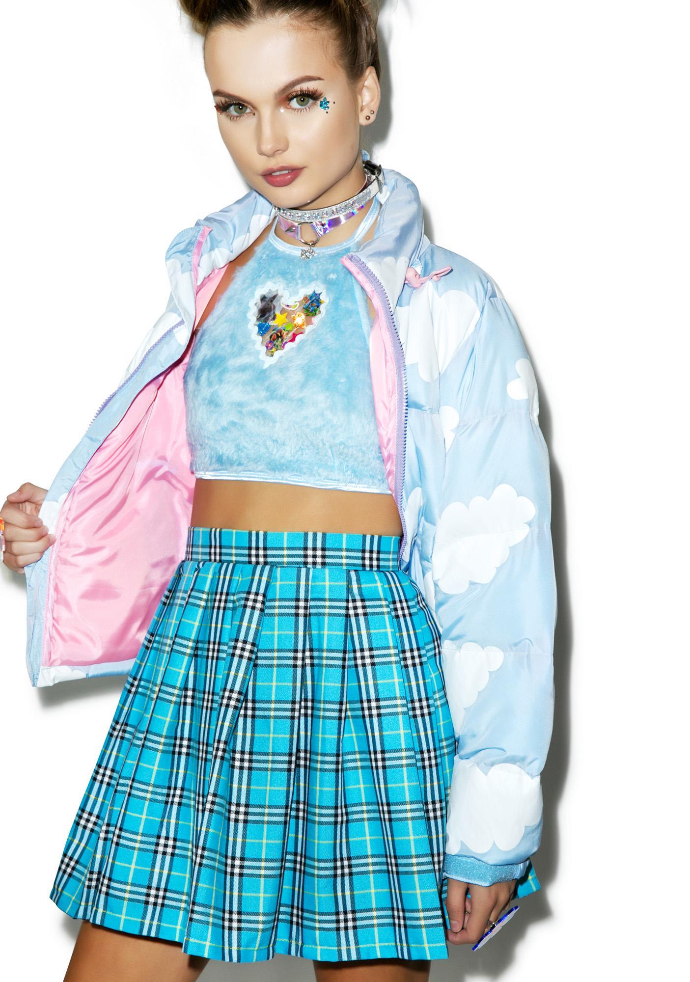 Reality Bites Blues Plaid Skirt