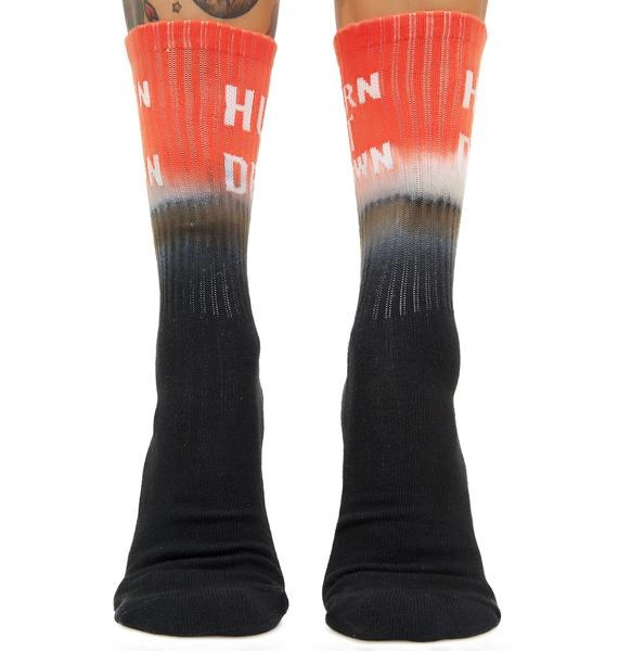 HUF Burn It Down Crew Sock