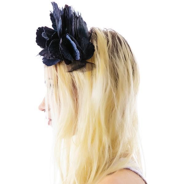 Cult Gaia Lana Velvet Noir Crown