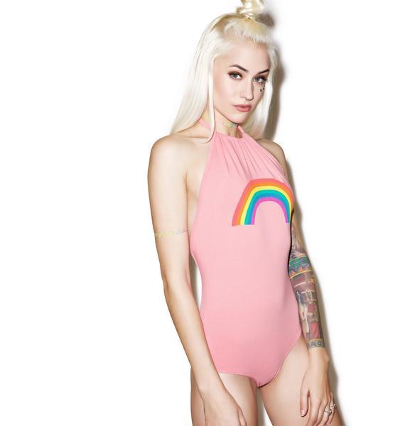 MeYouVersusLife Rainbow Halter Bodysuit