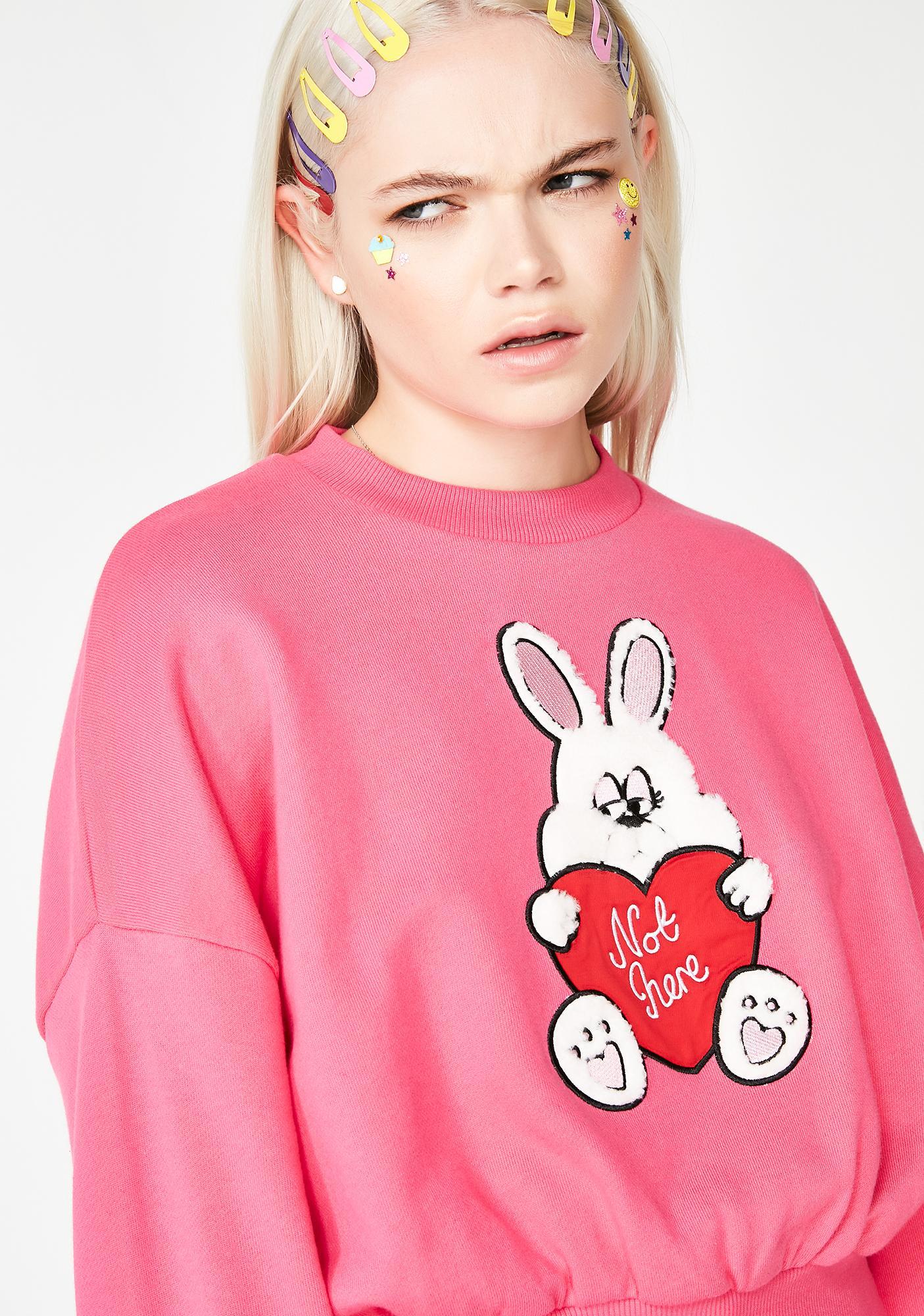 Lazy Oaf Not Here Bunny Sweatshirt