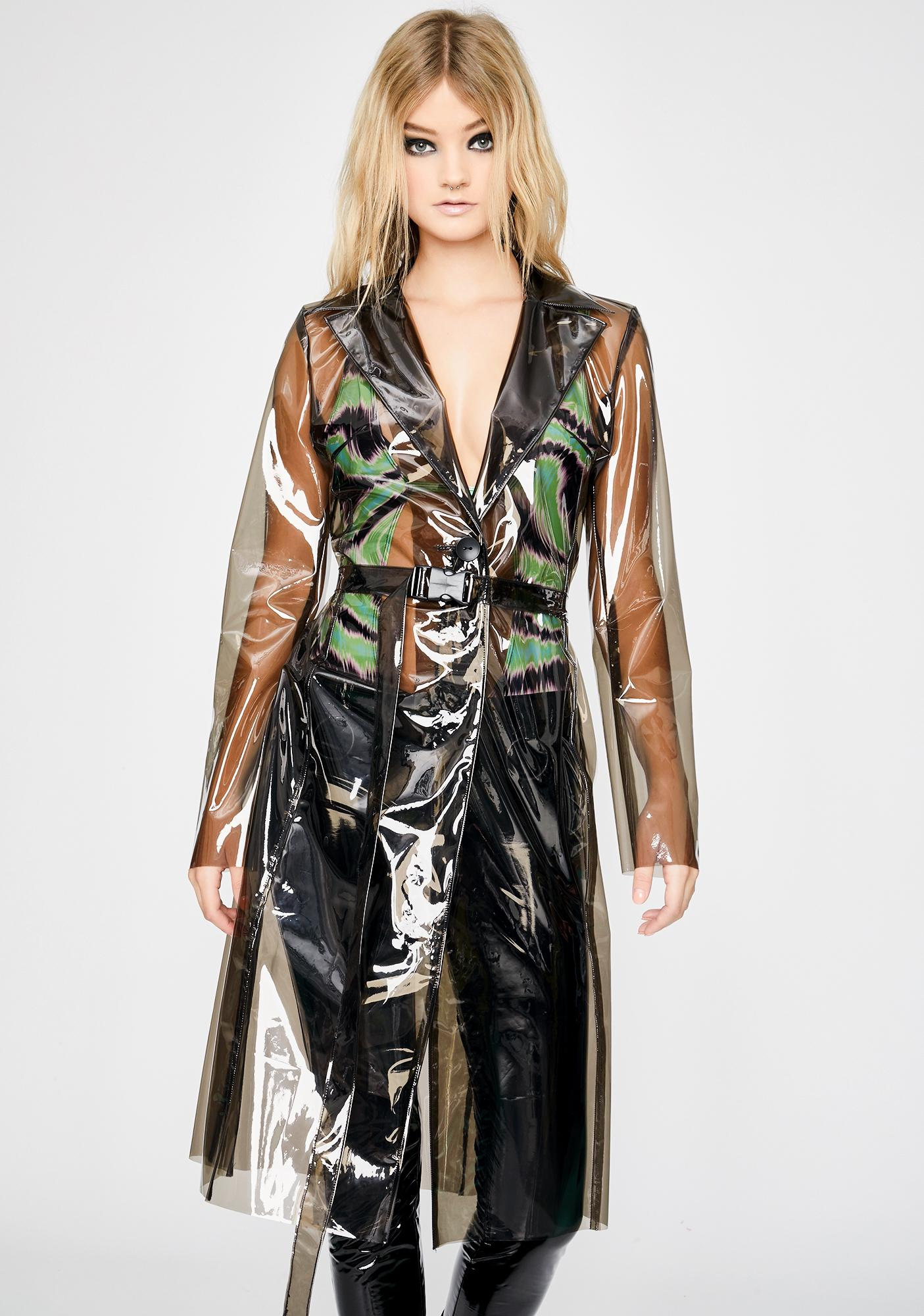 Ivy Berlin Barely There Vinyl Trench Coat