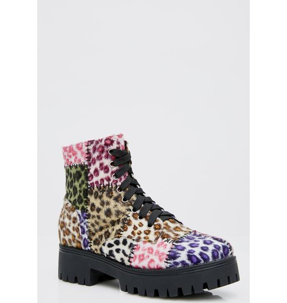 Current Mood Leopard Junkyard Boots