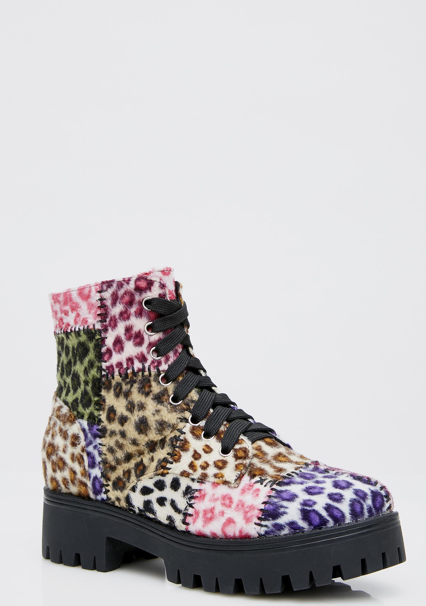 Current Mood Leopard Junkyard Boots