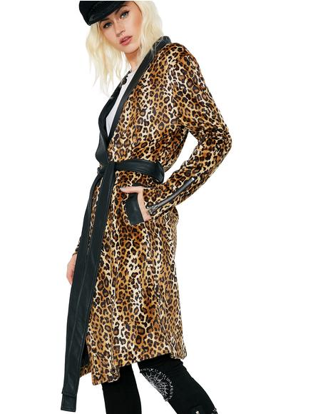 Animal Instinct Leopard Robe