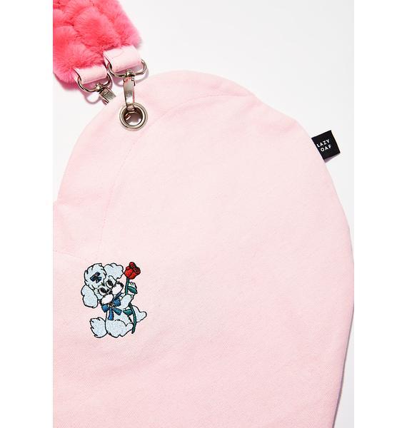 Lazy Oaf Dog Heart Tote Bag