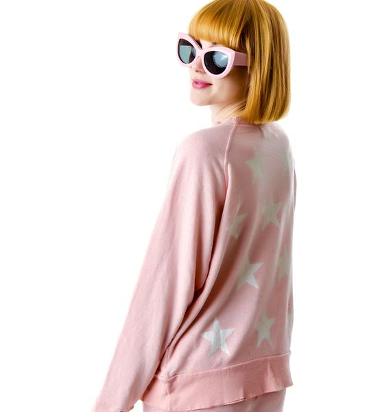 Wildfox Couture Starshine Destroyed Sweater
