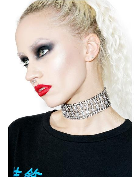 Black Magic Rhinestone Choker