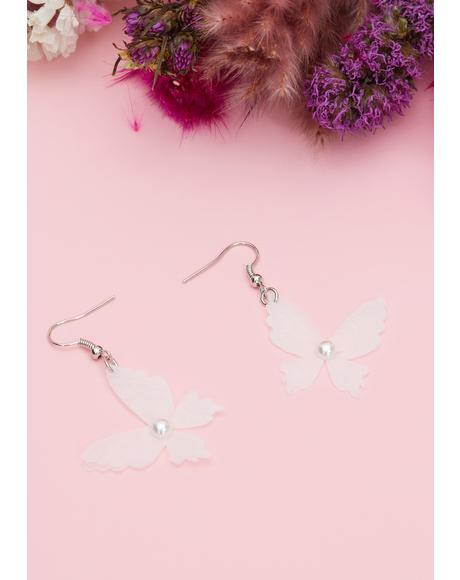 Wing Messages Butterfly Earrings