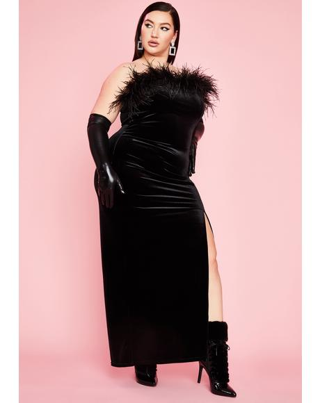 Special Private Showing Marabou Dress