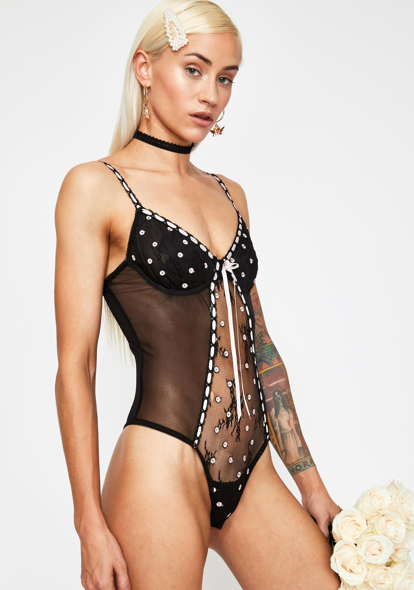 Current Mood Love Songs Lace Bodysuit