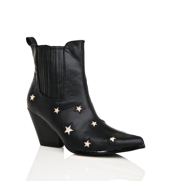 Midnight Countin' Starz Ankle Boots