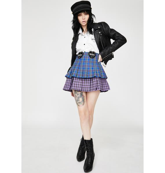 Morph8ne Sisterhood Plaid Skirt