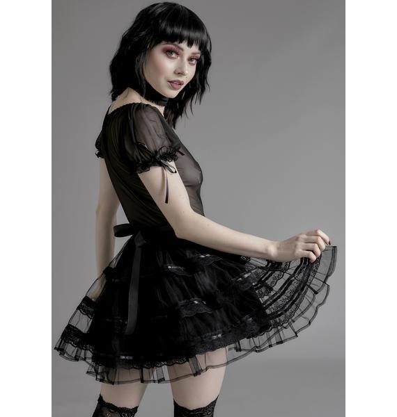 Widow Unholy Grail Tulle Skirt