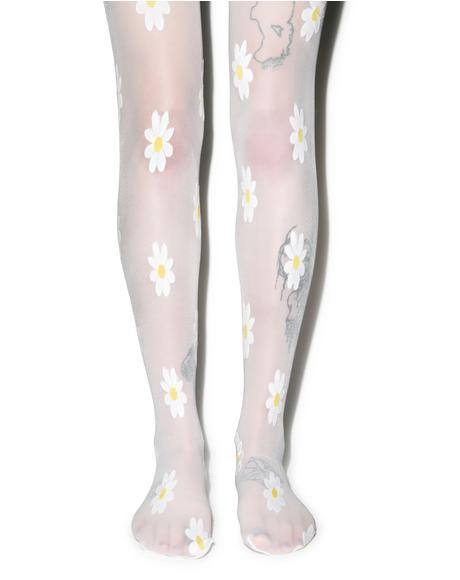 Pushin' Up Daisies Tights