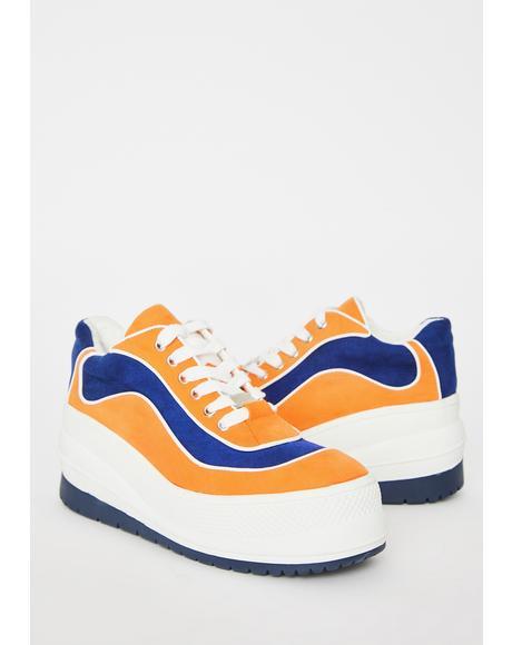 Totally Dunkadelic Platform Sneakers