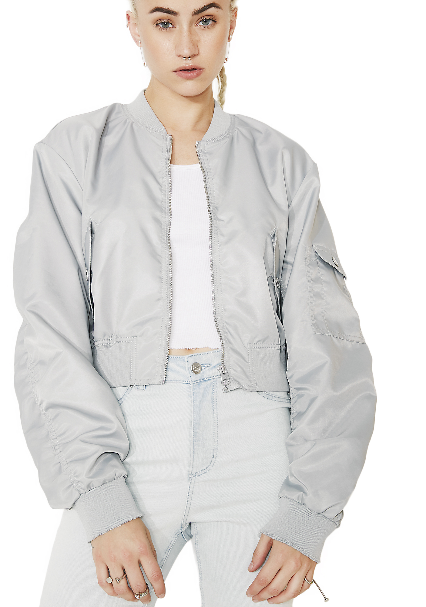 Cheap Monday Slate Bling Bomber