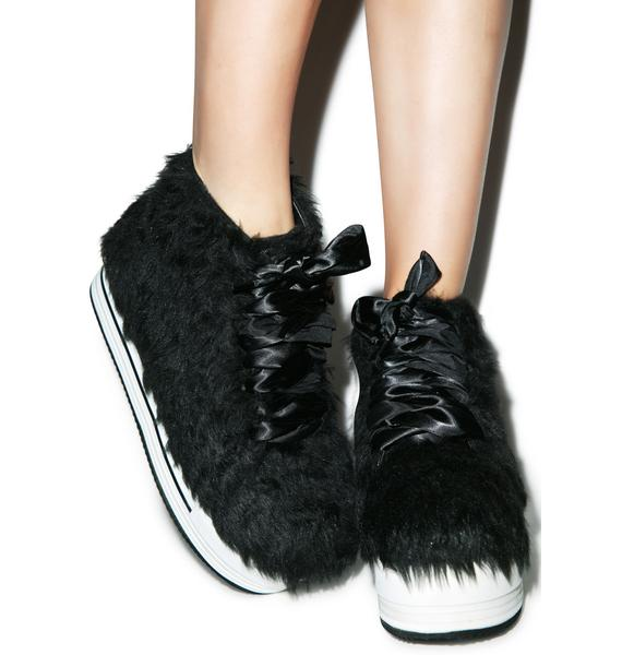 Y.R.U. Elevation Fur Platform Sneakers