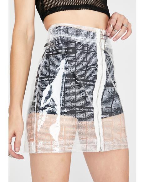 News Flash Clear Skirt