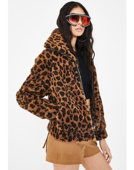 Kitty Come Close Leopard Jacket
