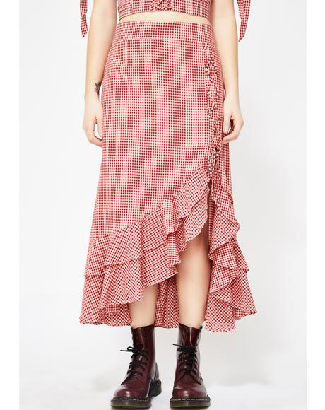 Isn't She Lovely Gingham Skirt
