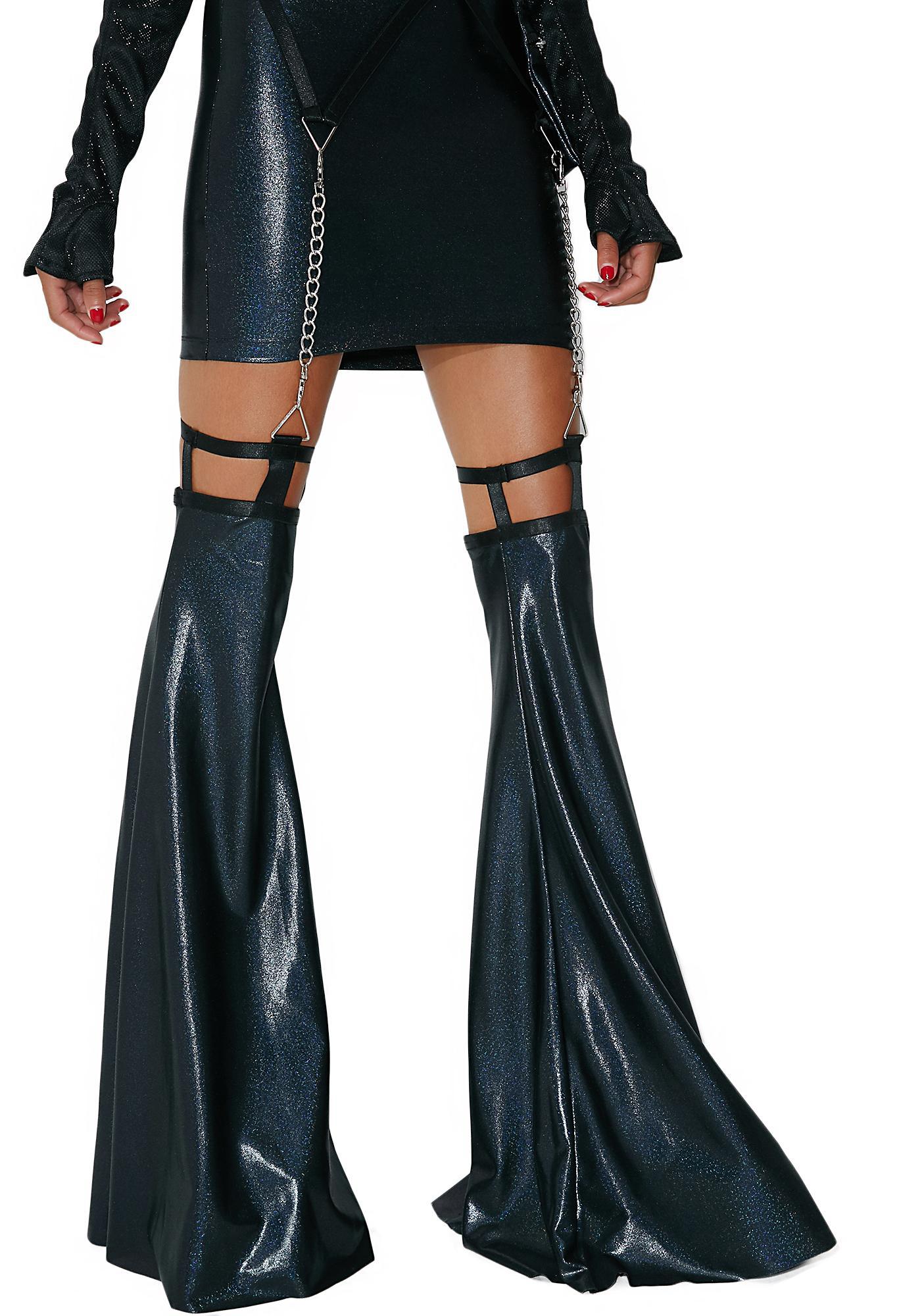Club Exx Shadow Trance Mini Garter Skirt