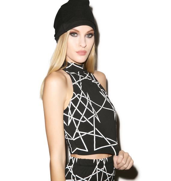 Long Clothing Infinity Sleeveless Crop Top