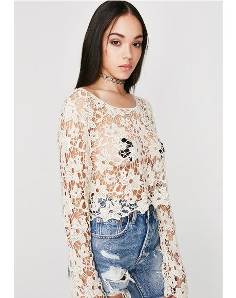 Poppin' Petals Crochet Top