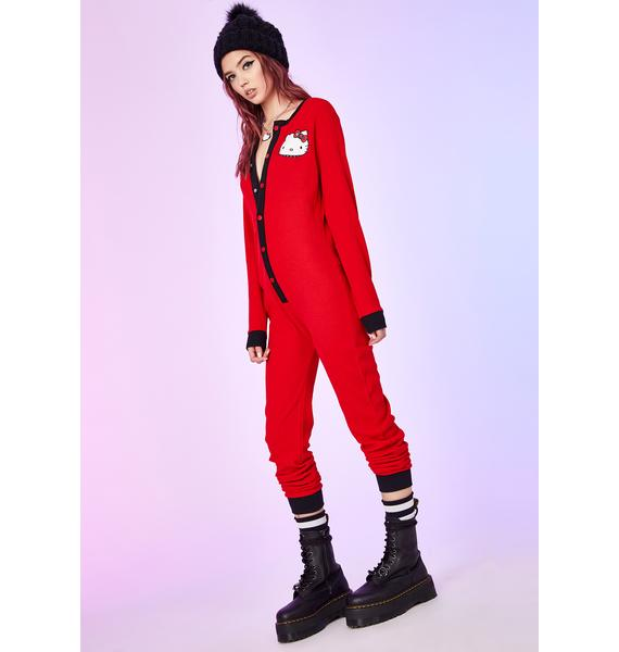 Dolls Kill x Hello Kitty Daydream Crasher Onesie Pajama