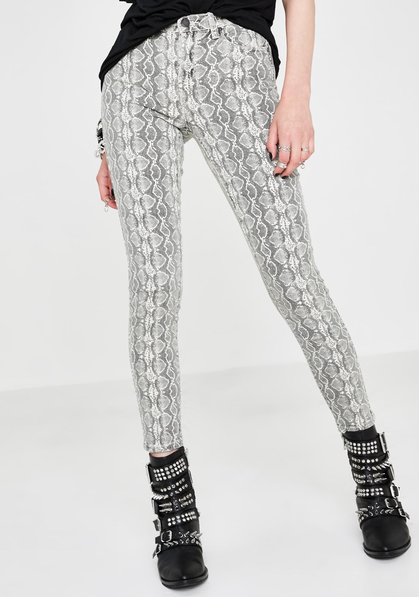 Blank NYC Snake Along Skinny Jeans