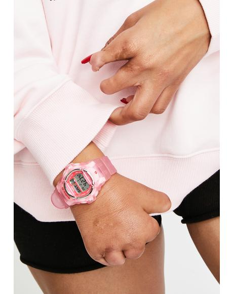 Pink Baby G Digital Watch