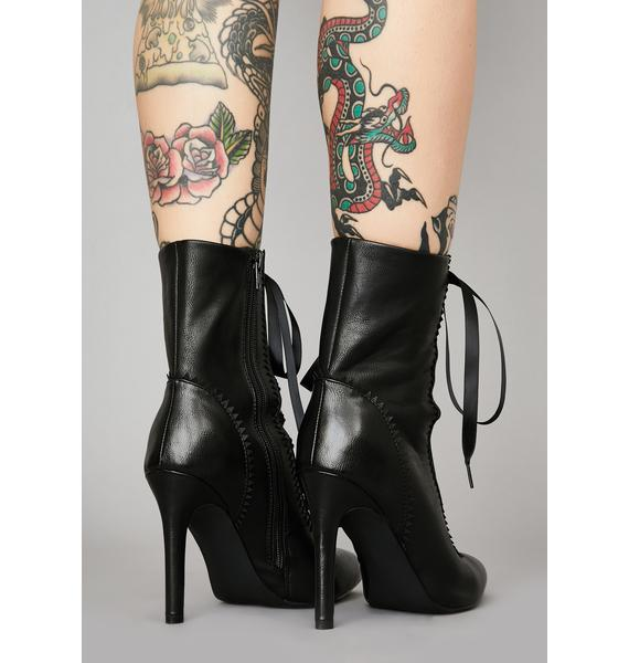 Widow Dark Alchemy Lace-Up Booties