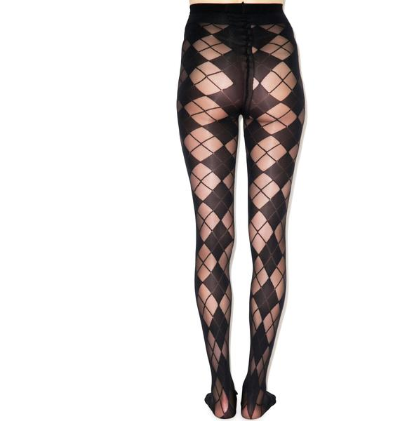 Pretty Polly Pretty Polly x Alice & Olivia Argyle Tights