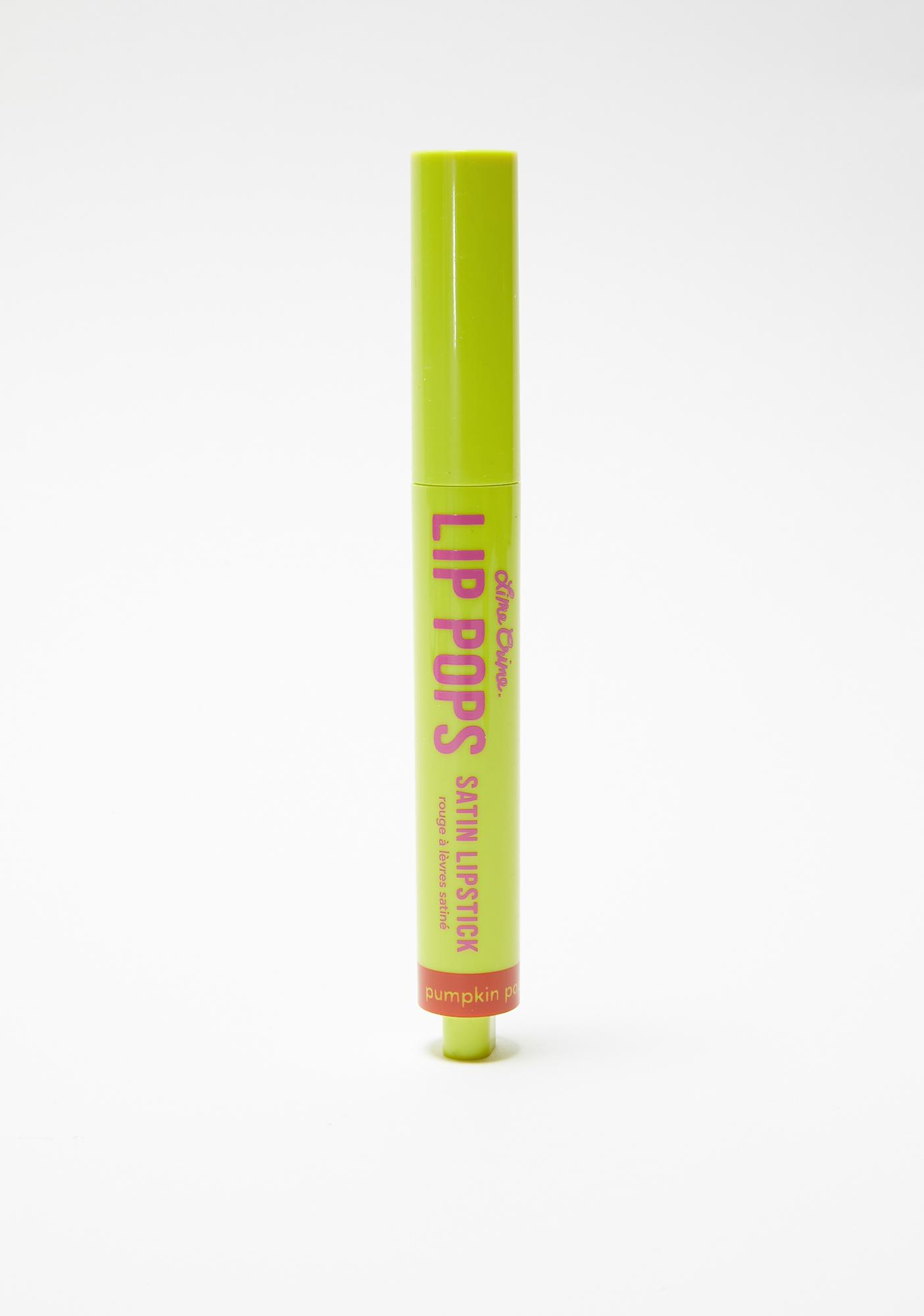 Lime Crime Pumpkin Pop Lip Pops Satin Lipstick