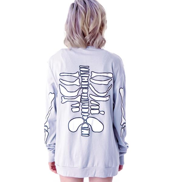 High Heels Suicide Skeleton Cardigan