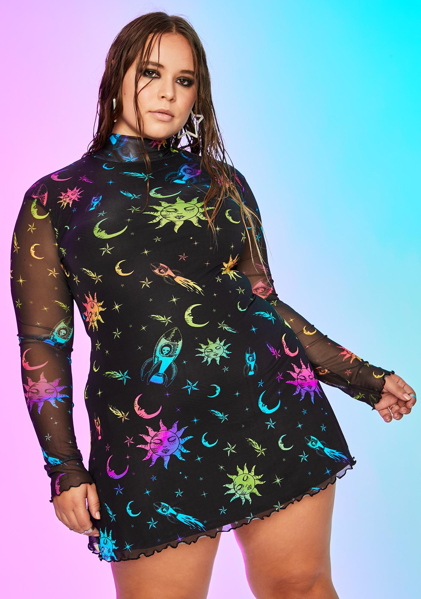 Current Mood Wild Celestial Magic Mesh Dress