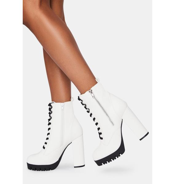 Partly Rowdy Platform Boots