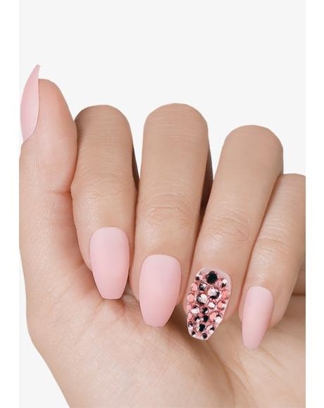 Mellow Rose Accents Press On Nails
