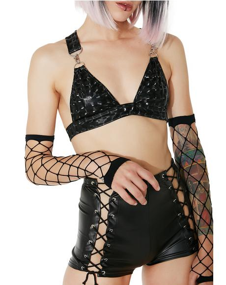 Dark Hyperion Hologram Bra Top