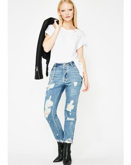 Atomic Baddie Distressed Jeans