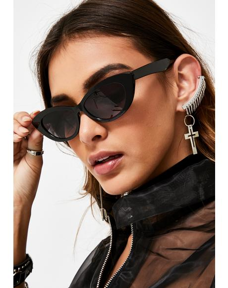 Tasteful Sass Cat-Eye Sunglasses