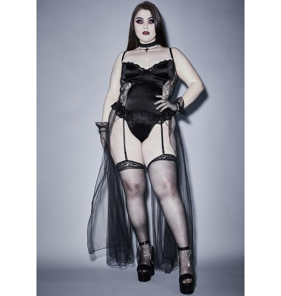 Widow Unholy Familiar Rituals 3-Piece Lingerie Set