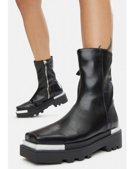 Jayne Vegan Leather Ankle Booties
