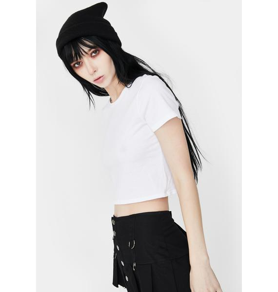 Funeral See Through You Crop Tee