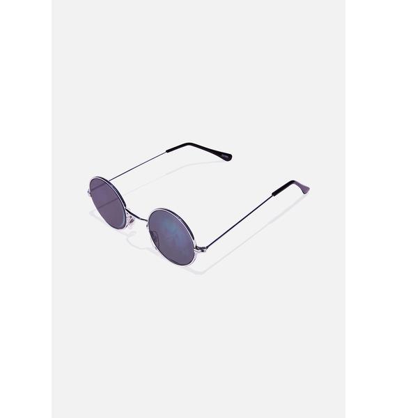 Good Times Eyewear Smiley Hologram Round Sunglasses